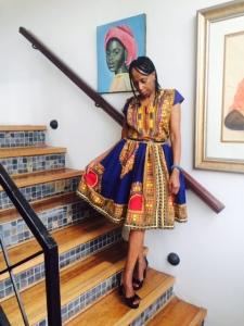 Iconic bush fashion! I am so feeling this dress by Mama Elizabeth of Gingirikana Sewing Cooperative at Justicia village, Mpumalanga