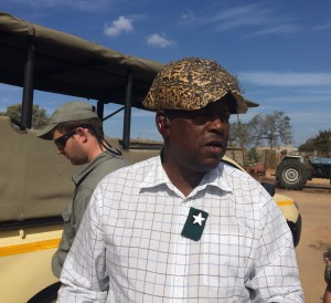 Bhili with his game drive vehicle